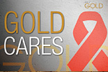 Gold cares (World Aids day) [icon]