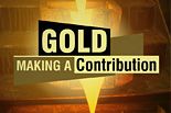Gold making a contribution [icon]