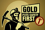 Gold puts safety first [icon]